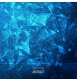3D Blue Abstract Business Background with vector image vector image