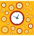 Flat clock background vector image