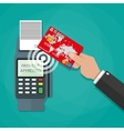 nfc payments concept vector image