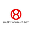 red circle shape happy international womens day vector image