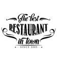 retro restaurant poster vector image