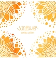 Seamless pattern with watercolor sunflowers vector image