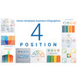 templates business infographics 4 positions vector image