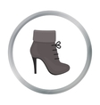 Woman boot icon of for web and vector image