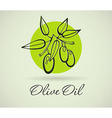 Hand-Drawing Olive vector image