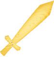Toy wooden sword vector image