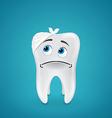 Bandaged sad tooth vector image vector image