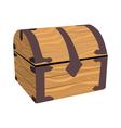 Wooden treasure or pirate chest vector image