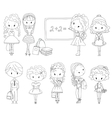 Adult Coloring book pupil School children vector image