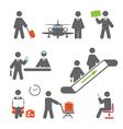 Air terminal icons vector image