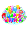 Birthday bright composition vector image