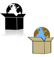 Earth in a box vector image