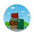 Icon Luggage Bags in the Waiting Room vector image