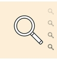 icon of magnifying glass vector image