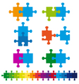 jigsaw puzzle set vector image