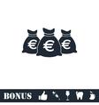 Money bags icon flat vector image
