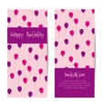 vertical birthday greeting card vector image