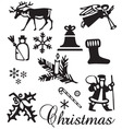 Christmas ornament set vector image