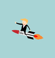 Businessman rocket idea vector image