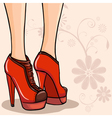 Elegant legs in ankle boot vector image