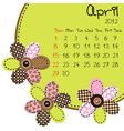 2012 april calendar vector image