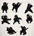 Set of ninja assassins vector image