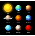 planets icons vector image vector image