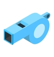 Whistle isometric 3d icon vector image