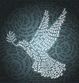 Day related in shape of peace symbol vector image
