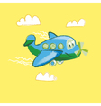 kiddy little plane on yellow background vector image