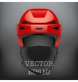 Background of Classic red Ice Hockey Helmet vector image