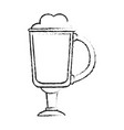 blurred silhouette image cartoon glass cup of vector image