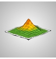Concept of topographic map vector image