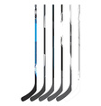Set of hockey sticks vector image