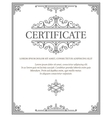 vertical certificate template diploma vector image