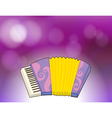 A purple stationery with a musical instrument vector image
