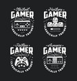 retro video games related t-shirt design vector image vector image