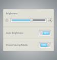 Screen brightness UI vector image