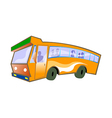 A view of a bus vector image