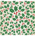 Christmas wooden mistletoe shape pattern vector image