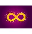 Infinity violet vector image vector image