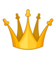 son of king crown icon cartoon style vector image