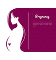 Pregnant womans silhouette vector image vector image