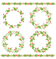 Holly ornaments vector image vector image