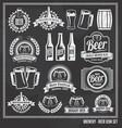 Beer chalkboard icon set vector image vector image