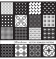 Seamless backgrounds Collection - Monochrome Set vector image