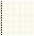 Notebook paper texture vector image