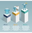 Leadership infographic set vector image
