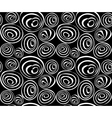 seamless abstract black and white hand-drawn vector image vector image