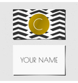 Black white and gold chevron pattern business card vector image
